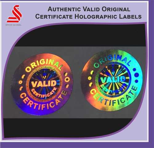 Tamper hologram labels