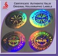 Certificate Valid Authentic Original Hologram Labels Stickers