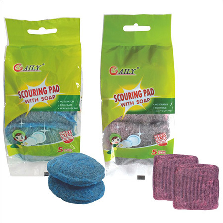 Scouring Pad with Soap