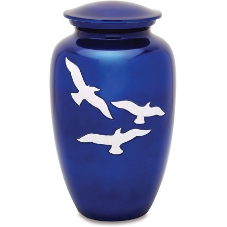 Bright Blue Going Home Urn