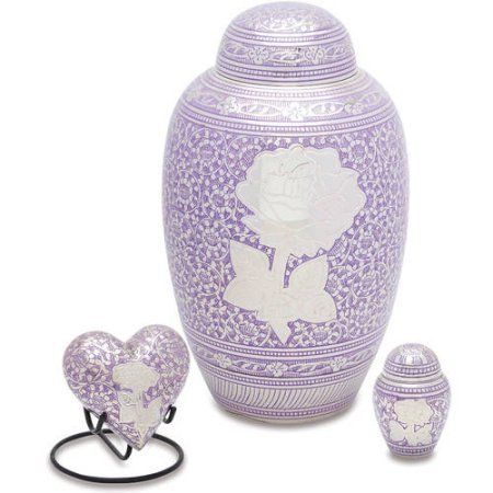 Purple Rose Funeral Urns