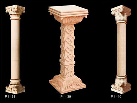 Carved Stone Columns
