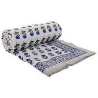 Blue Handblock Print Quilt