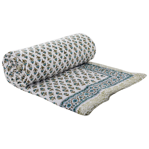 Jaipuri Handmade Handblock Print Cotton Quilt