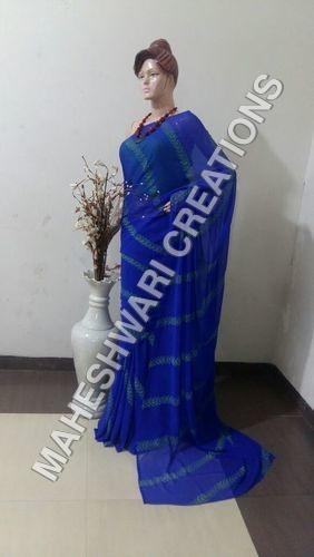 Blue Handloom Saree