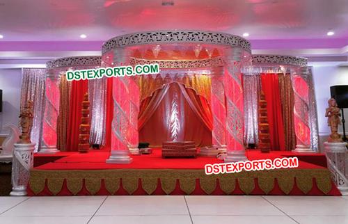 Amazing Wedding Fiber Crystal Mandap