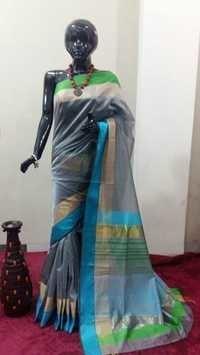 Resham Border Handloom Silk Saree