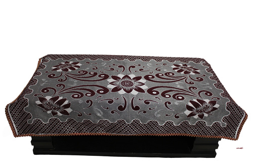Maroon kitkat flower printed table panel