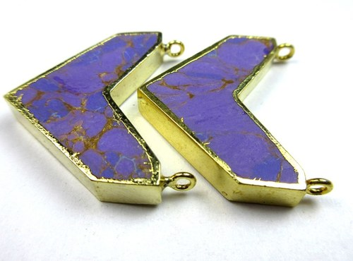 Purple Gold Electroplated Chevron Pendant