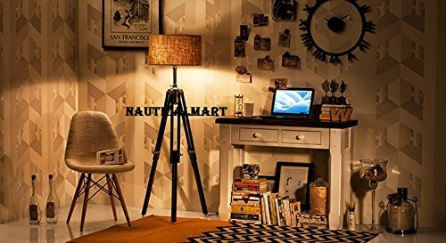 Decorative Tripod Search Light  Floor Lamp With Black Tripod Stand For Living Room