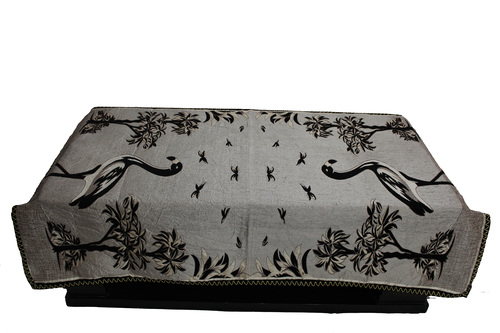 Bird printed coffee table cover
