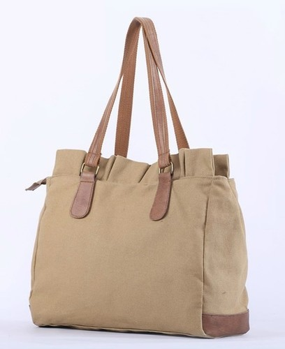 Leather Handle Canvas Bags