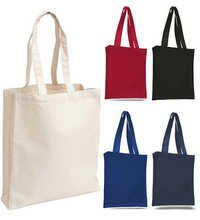 Colored Cotton Bags With Gusset