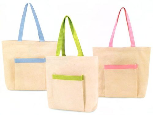 Cotton Tote With Pocket