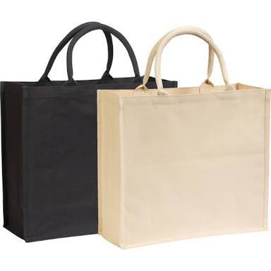 Cotton Bags With Inner Lamination And Rope Handle