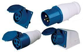 220v White - Blue Sockets