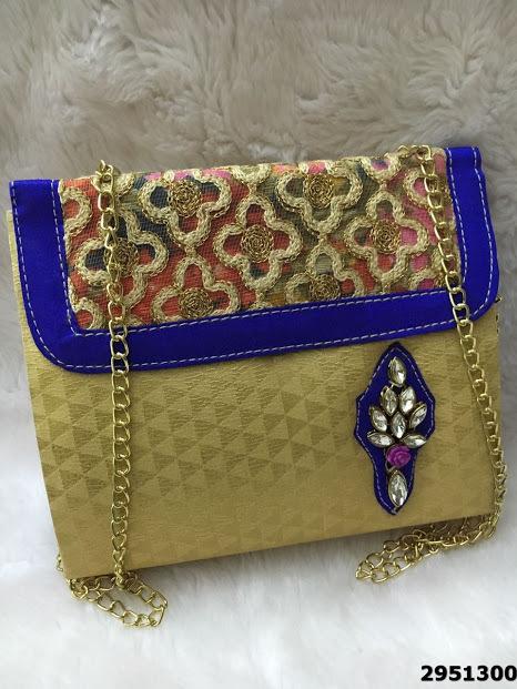 Elegant And Stylish Kundan Stone Handbag