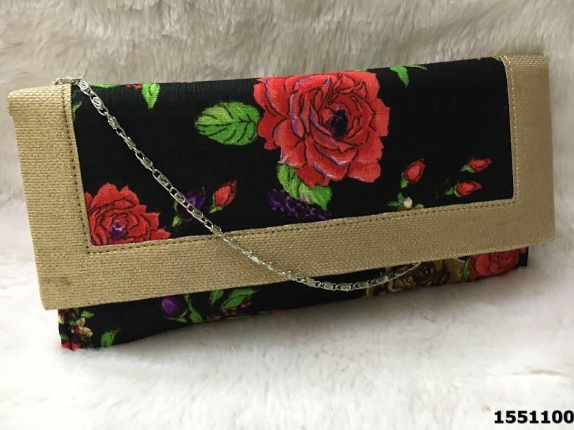 Designer Printed Floral Clutch Bags