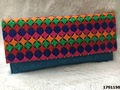 Designer Printed Jute Clutch Bag/Evening Bag