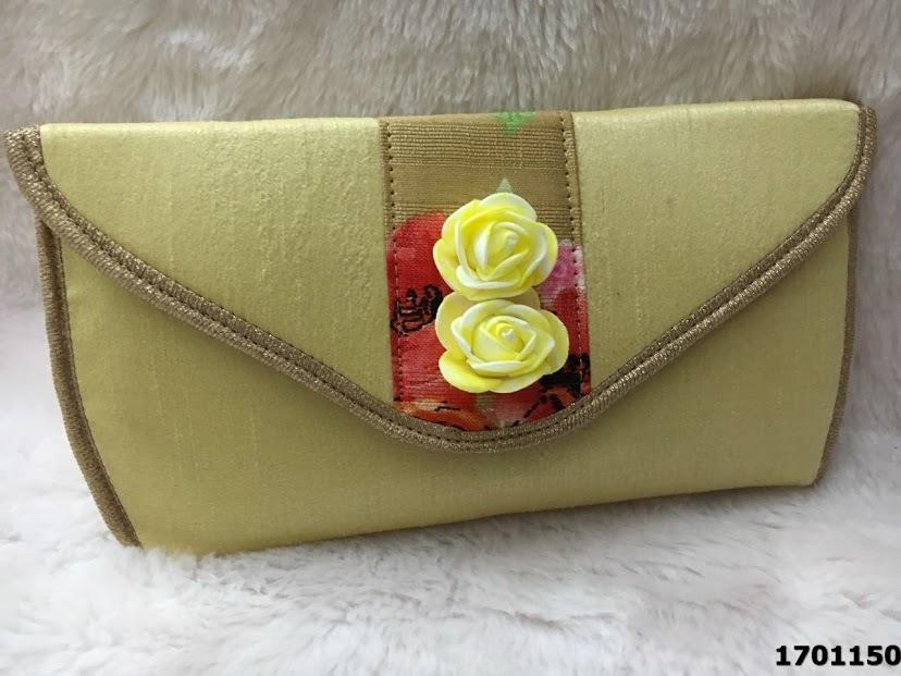 Latest Silk Floral Print Casual Evening Clutch Bag