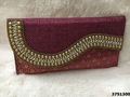 Designer Jute Clutch Bag