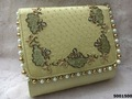 Designer Heavy Stone And Pearl Work Handbag
