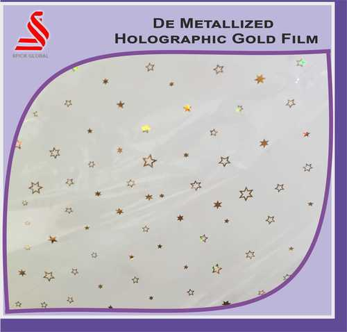 De Metalised Window Holographic Polyester Film