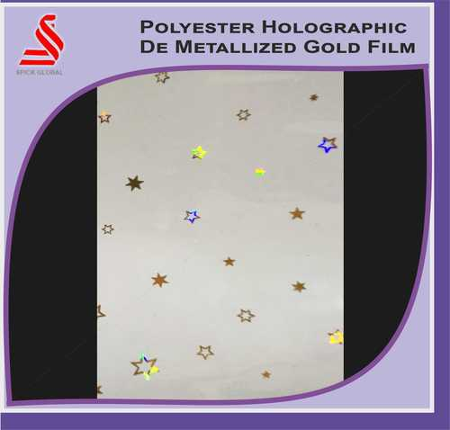 Metalised Polyester De Window Holographic Film