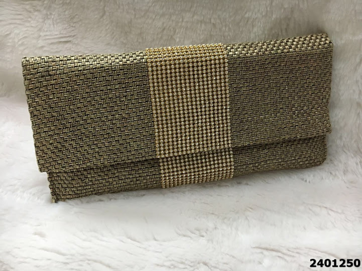Latest Designer Stone Work Jute Clutch Bag