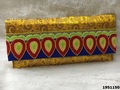 Latest Brocade Leave Design Embroidered Clutch Bag