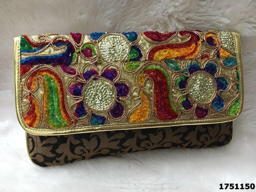Designer Brocade Evening Clutch Bag