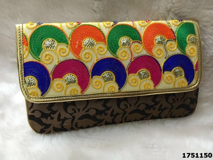 Designer Brocade Handwork Bag With Sling