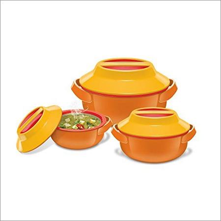 Milton Microwow Plastic Casserole Gift Set, 3-Pieces, Orange