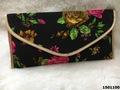 Designer Floral Print Clutch Bag With Short Sling