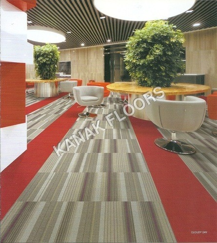 Straight Forward Cloudy Day Carpet Tiles