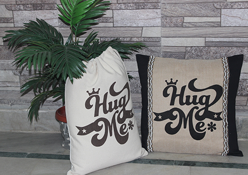 Designer Cushion Cover & Bag