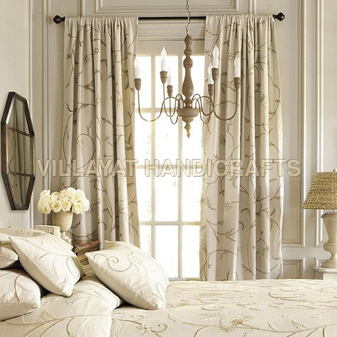 Crewel Embroidered Curtains