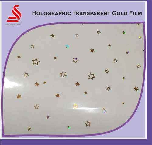 Holographic Transparent Gold Tapes Window Metallised Tape