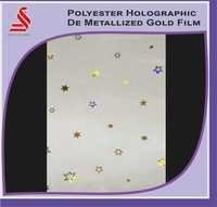 Polyester De Metallized Holographic Gold Films