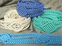 Macrame Knotted Belts