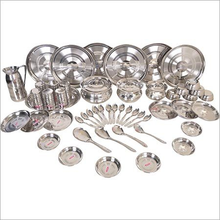 Deluxe Stainless Steel Dinner Set