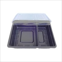 2 Section Tray with Lid