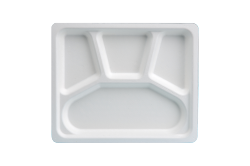 4CP Mini Meal Tray Bagasse