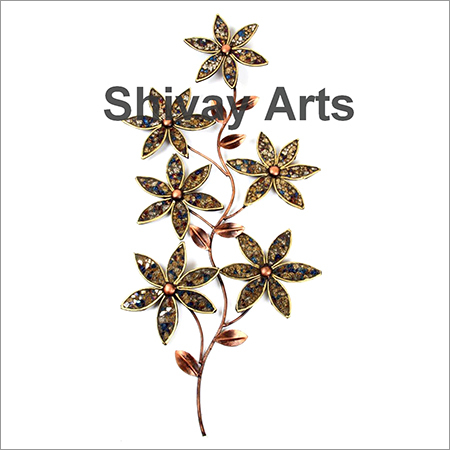 Metal Iron Mosaic Flower Wall Decor Wall Hanging