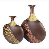 Metal Iron Handcrafted Flower Vase Flower Pot