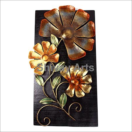 Metal Iron & Wood Flower Wall Decor Wall Hanging