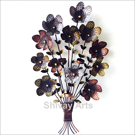 Iron Flower Bouquet Wall Decor Hanging