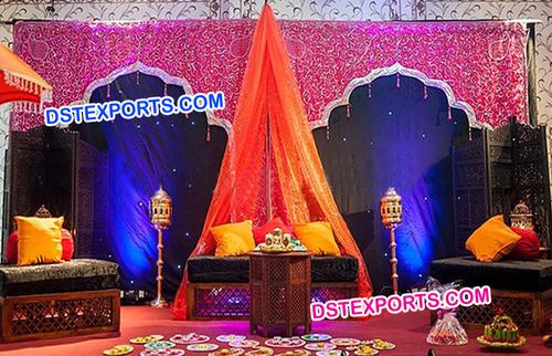 Wedding Moroccan Bed Mehandi Stage