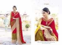 Designer work saree