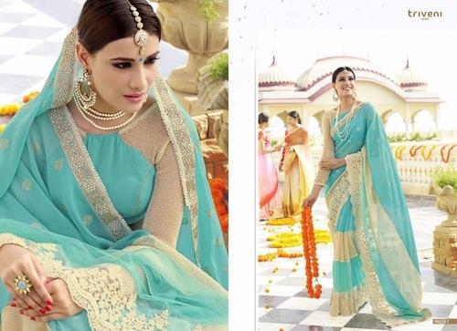 Designer Fancy Work Saree